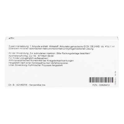Articulatio Genus Gl D6 Ampullen  bei apo-discounter.de bestellen