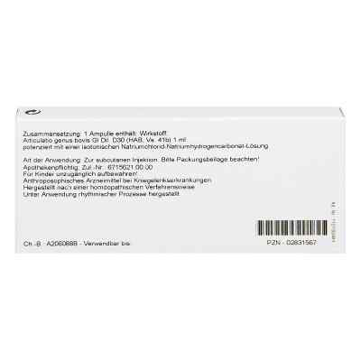 Articulatio Genus Gl D30 Ampullen  bei apo-discounter.de bestellen