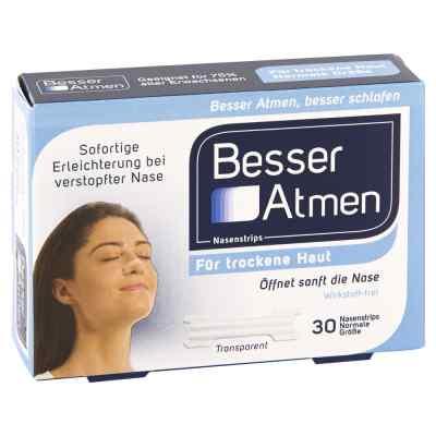 Besser Atmen Nasenstrips transparent normale Grösse