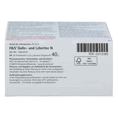 H&s Galle- und Lebertee N Filterbeutel  bei apo-discounter.de bestellen