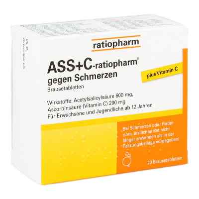 ASS+C-ratiopharm gegen Schmerzen