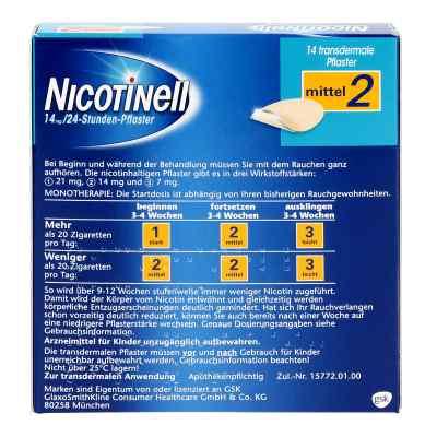 Nicotinell 14mg/24-Stunden-Nikotinpflaster, Mittel (2)  bei apo-discounter.de bestellen