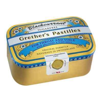 Grethers Blackcurrant Silber Pastillen zuckerfrei Dose  bei apo-discounter.de bestellen