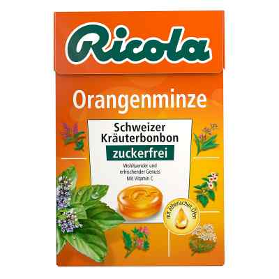 Ricola ohne Zucker  Box Orangenminze Bonbons