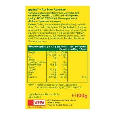 Apoday Heisse Zitrone Vitamine c Pulver  bei apo-discounter.de bestellen