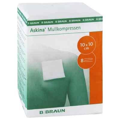 Askina Mullkompressen 10x10 cm unsteril