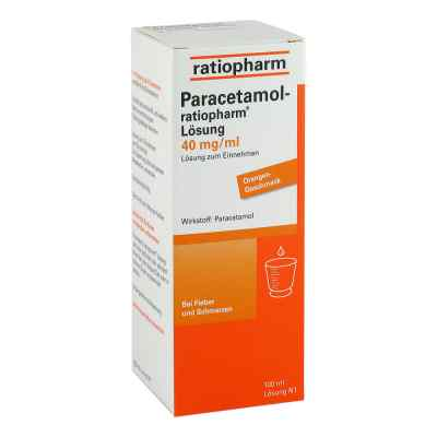 Paracetamol-ratiopharm 40mg/ml Lösung zum Einnehmen  bei apo-discounter.de bestellen