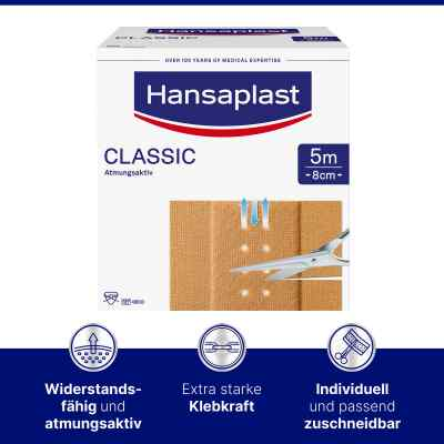 Hansaplast Classic Pflaster 5mx8cm  bei apo-discounter.de bestellen