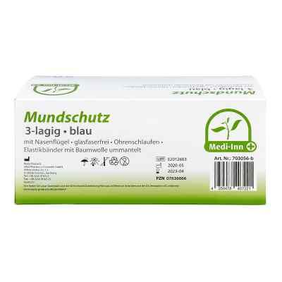 Medi Inn Mundschutz Maske mit Bändern blau  bei apo-discounter.de bestellen