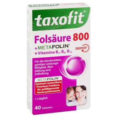 Taxofit Folsäure+metafolin 800 Depot Tabletten