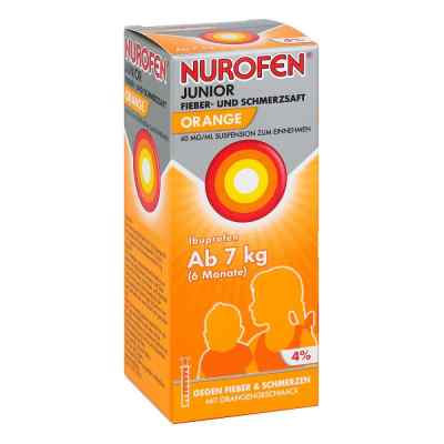 Nurofen Junior Fieb.+schmerzsaft Orange 40mg/ml