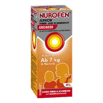 Nurofen Junior Fieber- und Schmerzsaft Erdbeer 40mg/ml