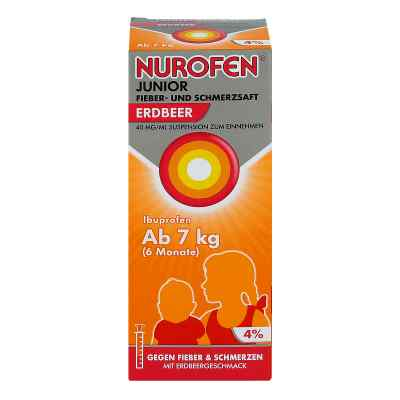 Nurofen Junior Fieber- und Schmerzsaft Erdbeer 40mg/ml  bei apo-discounter.de bestellen