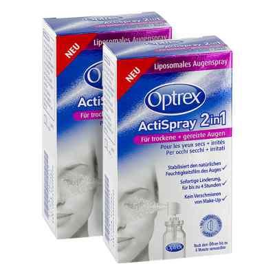 2x Optrex ActiSpray 2in1 für trockene gereizte Augen 08100013