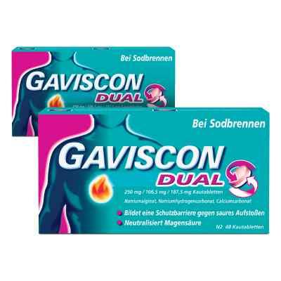 GAVISCON Dual 250 mg, 106,5 mg, 187,5 mg Kautabletten  bei apo-discounter.de bestellen