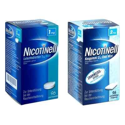 Nicotinell 1mg Mint (96 stk) + Nicotinell 2mg Cool Mint (96 stk)  bei apo-discounter.de bestellen