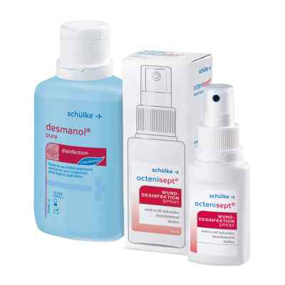 Octenisept Lösung 50ml + Desmanol pure Händedesinfektion 100ml  bei apo-discounter.de bestellen