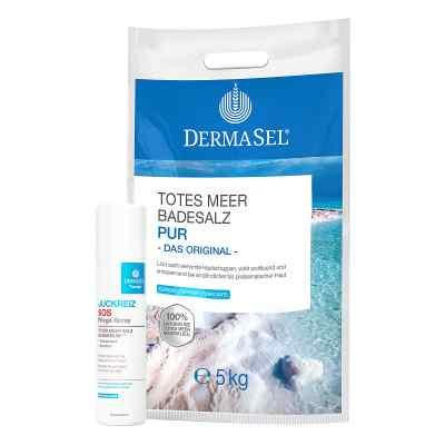 Dermasel Totes Meer Badesalz Pur mit GRATIS 1x Dermasel Therapie  bei apo-discounter.de bestellen