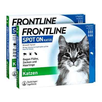 Frontline Spot on Katze veterinär Lösung gegen Flöhe und Zecken  bei apo-discounter.de bestellen