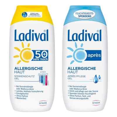 Ladival allergische Haut Gel LSF 50 und Apres Gel  bei apo-discounter.de bestellen