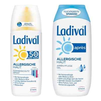 Ladival Sonnenschutzspray LSF 50 und Apres Gel  bei apo-discounter.de bestellen
