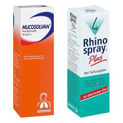Rhinospray plus bei Schnupfen + Mucosolvan Hustensaft 30mg5ml Sc  bei apo-discounter.de bestellen