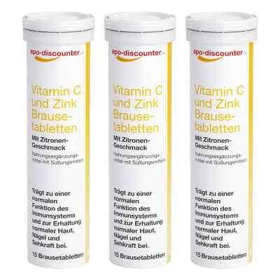 Vitamin C und Zink Brausetabletten von apo-discounter  bei apo-discounter.de bestellen