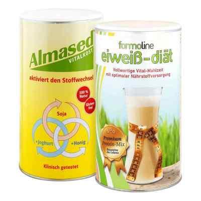 Almased Vitalkost und Formoline Eiweiss Diät Pulver  bei apo-discounter.de bestellen
