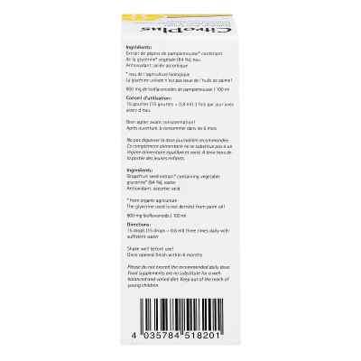 Citroplus 800 Bio Grapefruit Kern Extrakt Liquidum  bei apo-discounter.de bestellen