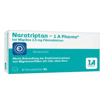 Naratriptan-1 A Pharma bei Migräne 2,5mg bei apo-discounter.de bestellen