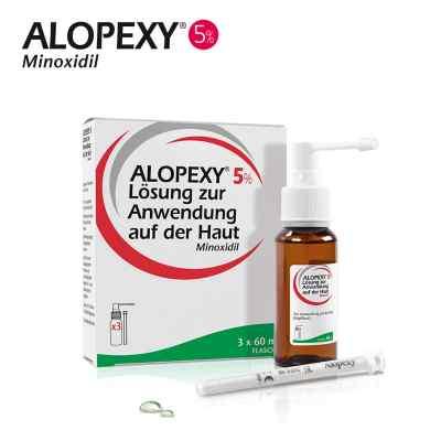 Alopexy 5% Lösung zur Anwendung bei Haarausfall  bei apo-discounter.de bestellen