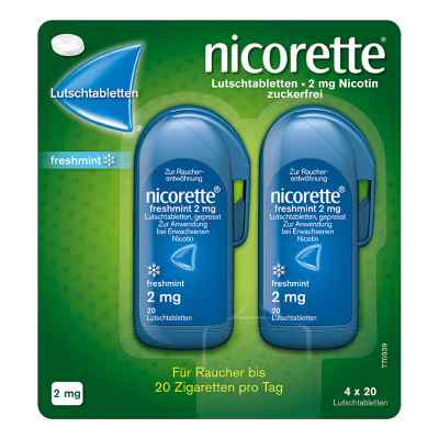 Nicorette freshmint 2 mg Lutschtabletten gepresst  bei apo-discounter.de bestellen