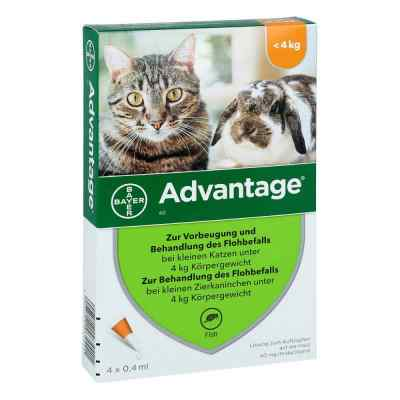 Advantage 40 mg für kl.Katzen und kl.Zierkaninchen  bei apo-discounter.de bestellen