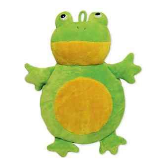 Wärmflasche rund 1,2 l Frosch mit Raschelpfote