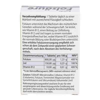 Folsäure 800 Plus B12+jod Tabletten  bei apo-discounter.de bestellen