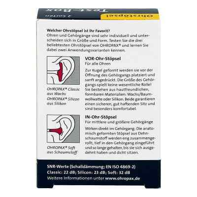 Ohropax Test-box 3 Sorten Ohrstöpsel  bei apo-discounter.de bestellen