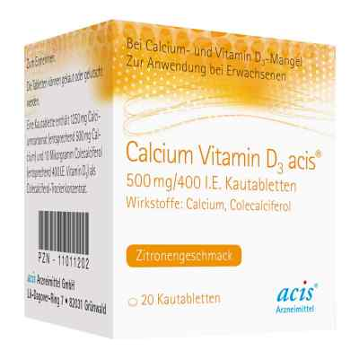 Calcium Vitamin D3 acis 500mg/400 internationale Einheiten  bei apo-discounter.de bestellen