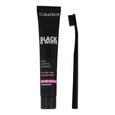 Curaprox Black is White Kohlezahnpasta und Bürste  bei apo-discounter.de bestellen