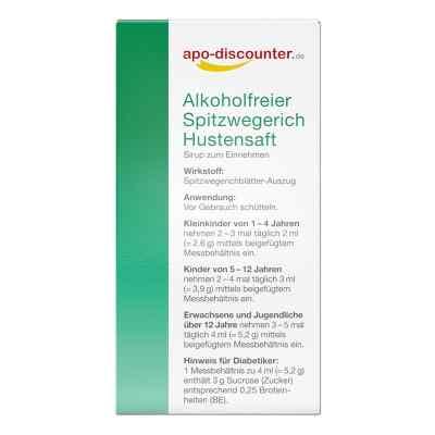 Alkoholfreier Spitzwegerich Hustensaft von apo-discounter  bei apo-discounter.de bestellen
