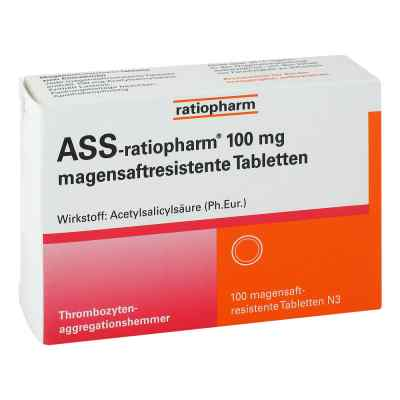 Ass ratiopharm 100 mg magensaftresistent   Tabletten  bei apo-discounter.de bestellen
