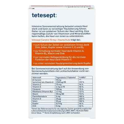 Tetesept Carotin 15 mg+Hautschutz Filmtabletten  bei apo-discounter.de bestellen