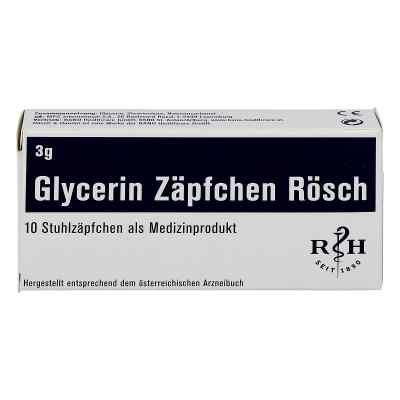 Glycerin Zäpfchen Rösch 3 g gegen Verstopfung  bei apo-discounter.de bestellen