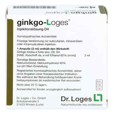 Ginkgo-loges Injektionslösung D4 Ampullen  bei apo-discounter.de bestellen