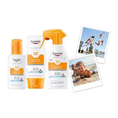 Eucerin Sun Sensitiv Protect Kids Spray mit Trigger LSF 50+  bei apo-discounter.de bestellen