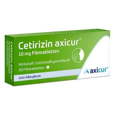 Cetirizin axicur 10 mg Filmtabletten  bei apo-discounter.de bestellen