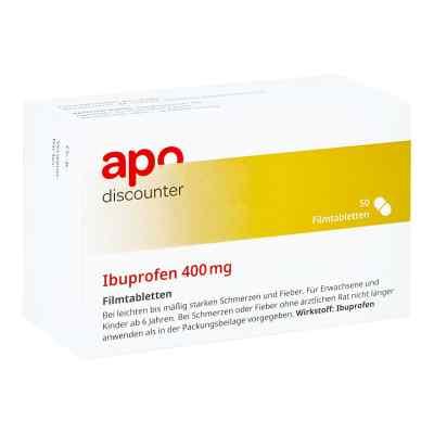 Ibuprofen 400 mg von apo-discounter Filmtabletten bei Schmerzen   bei apo-discounter.de bestellen