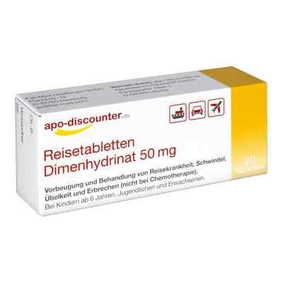 Reisetabletten Dimenhydrinat 50 mg Tabletten von apo-discounter  bei apo-discounter.de bestellen
