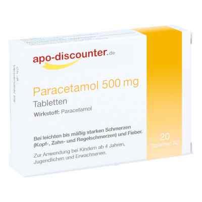 Paracetamol 500 mg Schmerztabletten von apo-discounter  bei apo-discounter.de bestellen