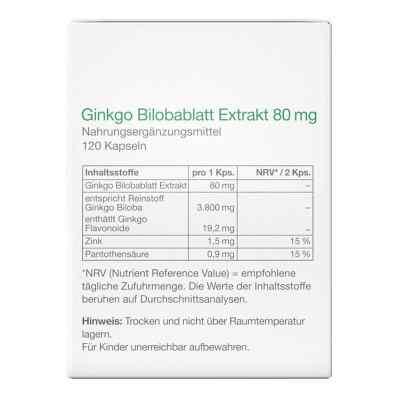 Ginkgo Bilobablatt Extrakt 80 mg Kapseln  bei apo-discounter.de bestellen