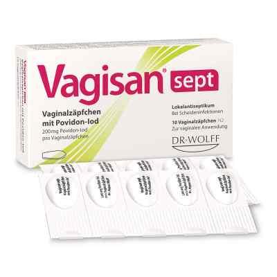 Vagisan Sept Vaginalzäpfchen Mit Povidon-Iod  bei apo-discounter.de bestellen